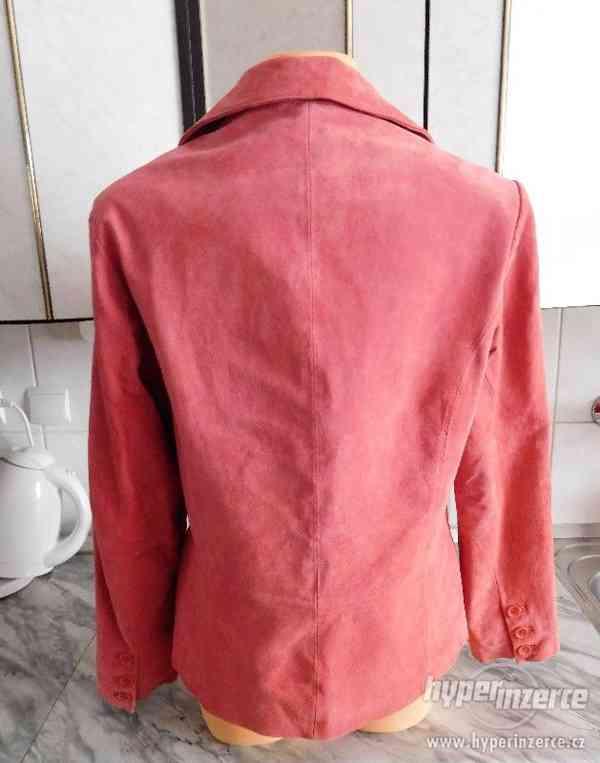 dámský kožený kabátek - sako - foto 4