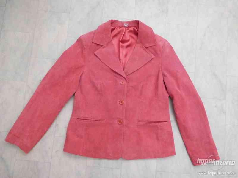 dámský kožený kabátek - sako - foto 5