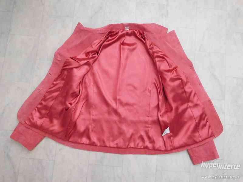 dámský kožený kabátek - sako - foto 6