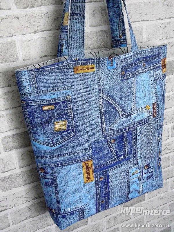 Nová nákupní taška s podšívkou a kapsou