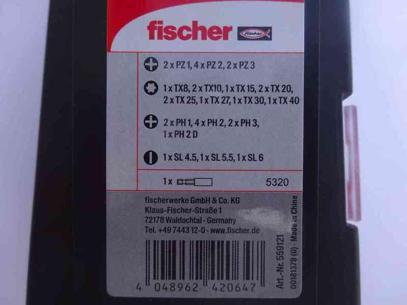 31 dílná sada kvalitních bitu FISCHER - foto 3