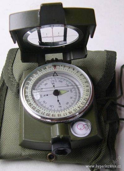 Kvalitní armádní buzola-kompas celokovový