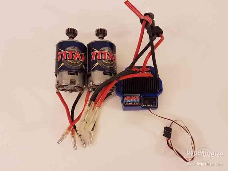 Traxxas - regulátor EVX-2 + 2 motory Titan 550 - foto 1