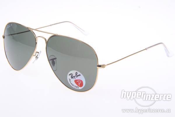 Sluneční brýle Ray Ban Aviator zlaté dárek