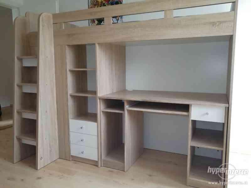 Dětská postel se skříní a psacím stolem - foto 2
