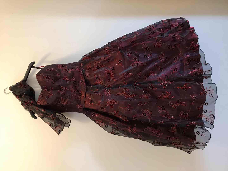 Plesové šaty - červené, vel. 42 (L-XL) - foto 1