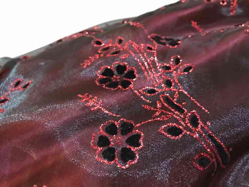 Plesové šaty - červené, vel. 42 (L-XL) - foto 4