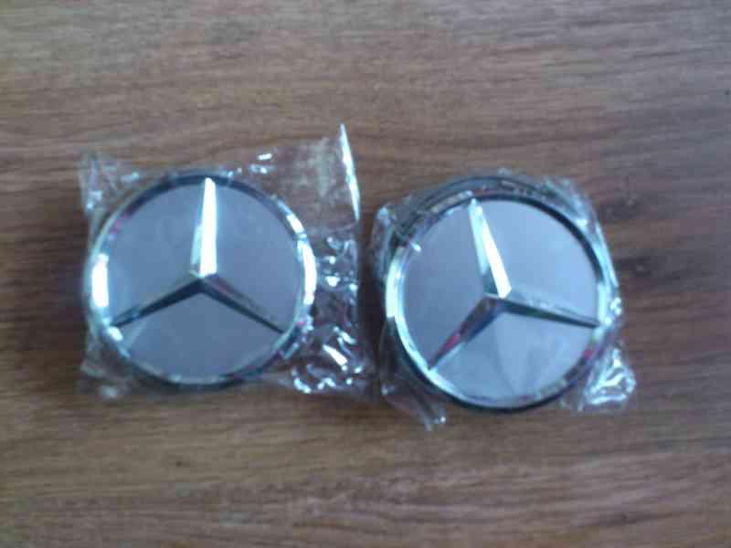 Středové pokličky Mercedes 75mm (4ks nove)