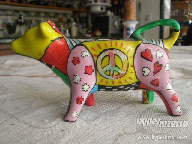Porcelánová kravička - mléčenka - foto 2