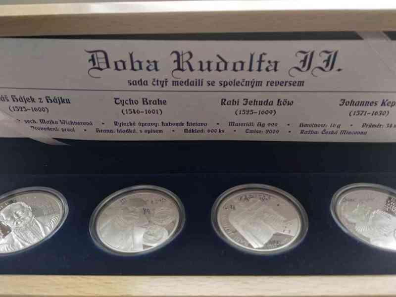 Sada stříbrných medailí doba rudolfa II