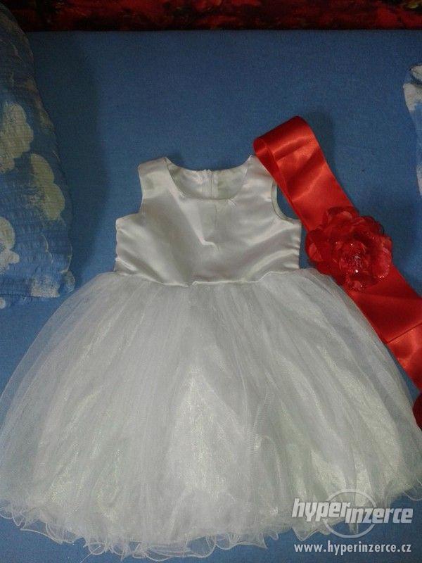Bílé šatičky velikost 80 - foto 1