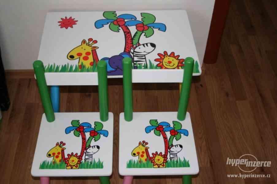 Dětský stolek židličkami Tropy aj.