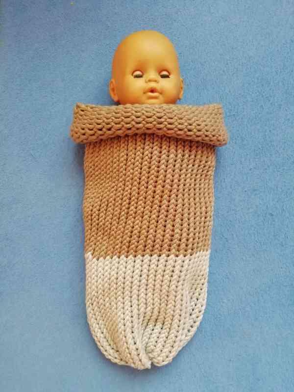 Pletený vak pro miminka barva na přání
