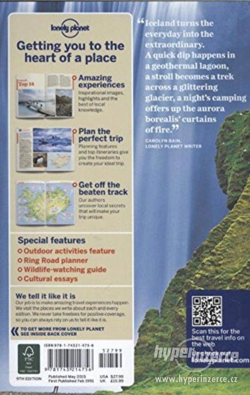 Iceland Lonely Planet 2015 průvodce anglicky - foto 2