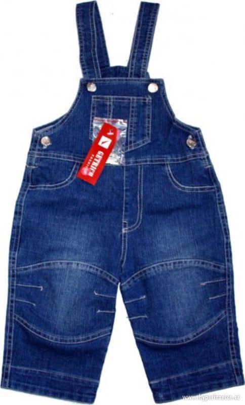 Dětské lacláče džínové kojenecké laclíky - foto 1