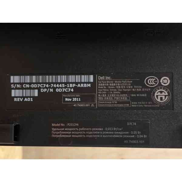 LED MONITOR DELL P2312HT 23'' - foto 5