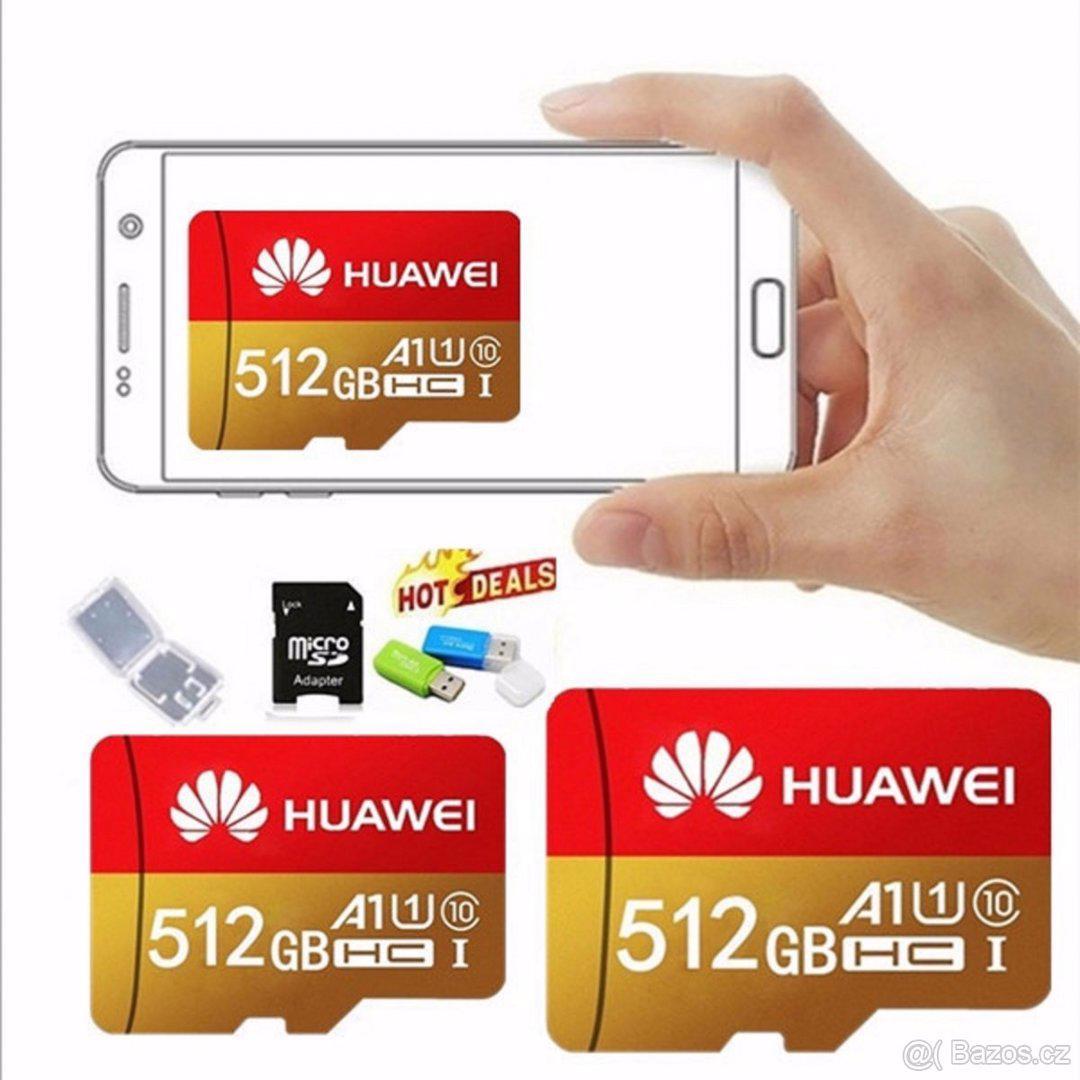 Paměťová karta Micro SDHC 512 GB+ SD+ USB adaptér - foto 1