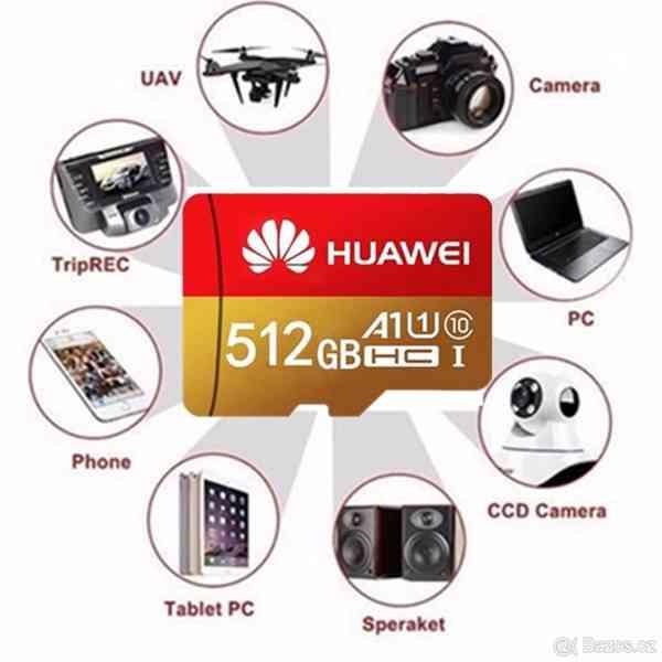 Paměťová karta Micro SDHC 512 GB+ SD+ USB adaptér - foto 4