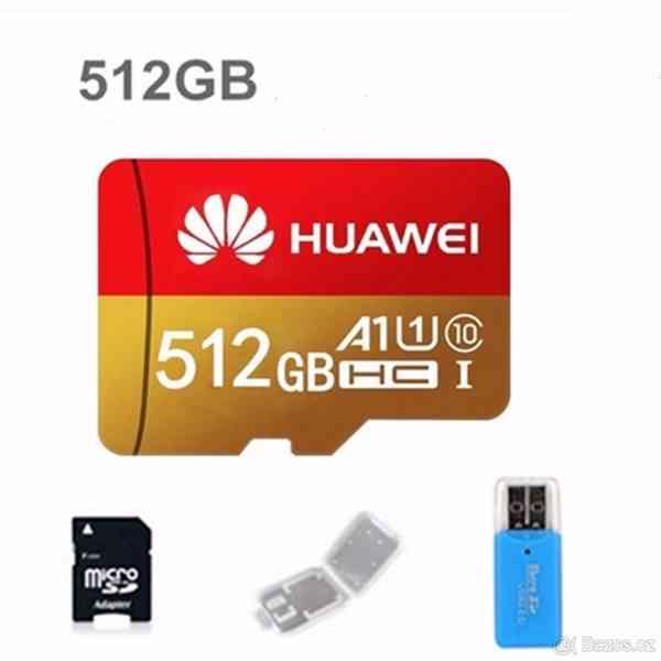 Paměťová karta Micro SDHC 512 GB+ SD+ USB adaptér - foto 6
