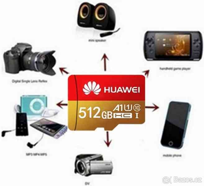 Paměťová karta Micro SDHC 512 GB+ SD+ USB adaptér - foto 3