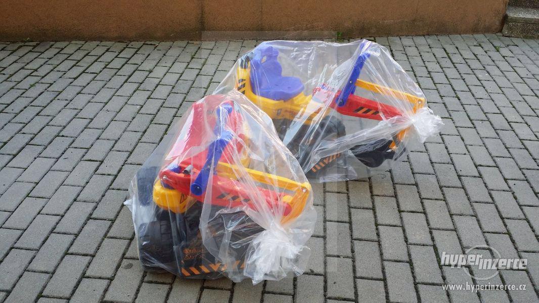 NOVY Bagr pro děti odrážedlo ( Možnost Dopravy ZDARMA ) - foto 4
