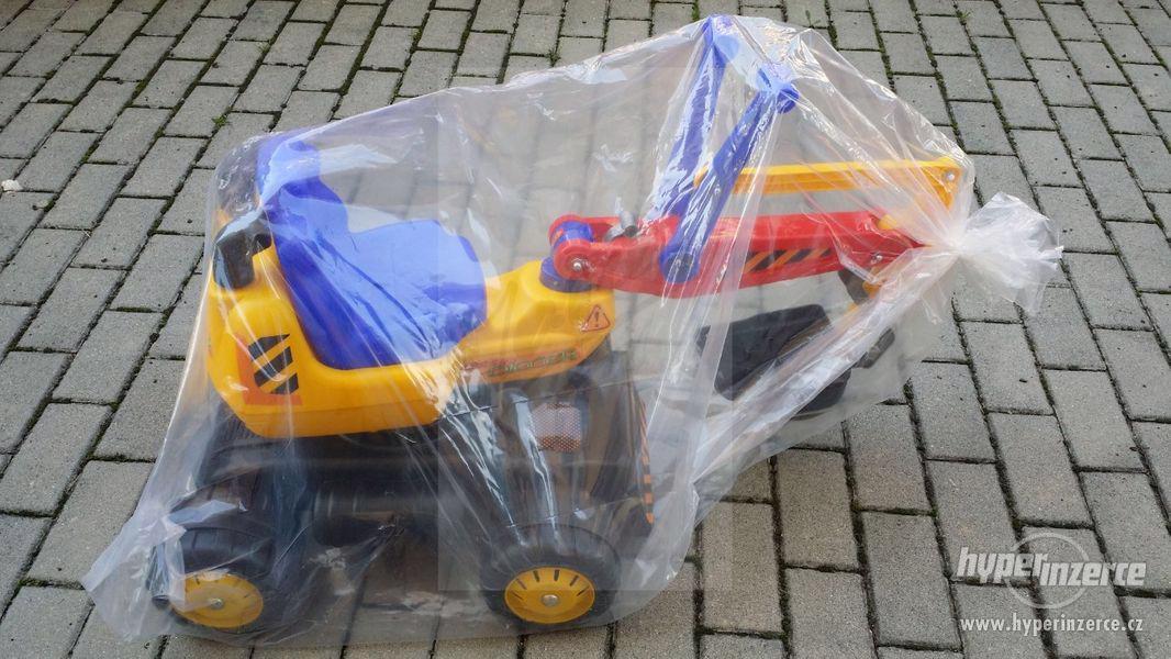 NOVY Bagr pro děti odrážedlo ( Možnost Dopravy ZDARMA ) - foto 7