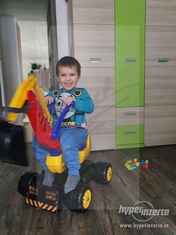 NOVY Bagr pro děti odrážedlo ( Možnost Dopravy ZDARMA ) - foto 8