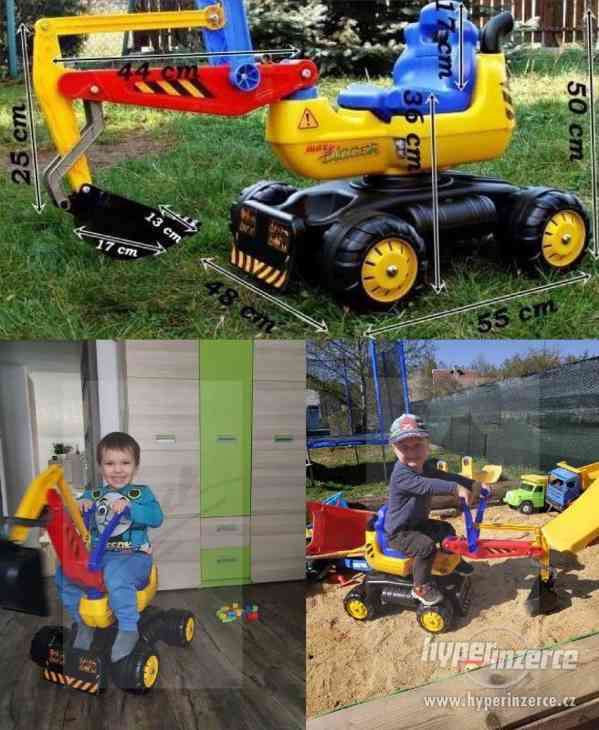 NOVY Bagr pro děti odrážedlo ( Možnost Dopravy ZDARMA )