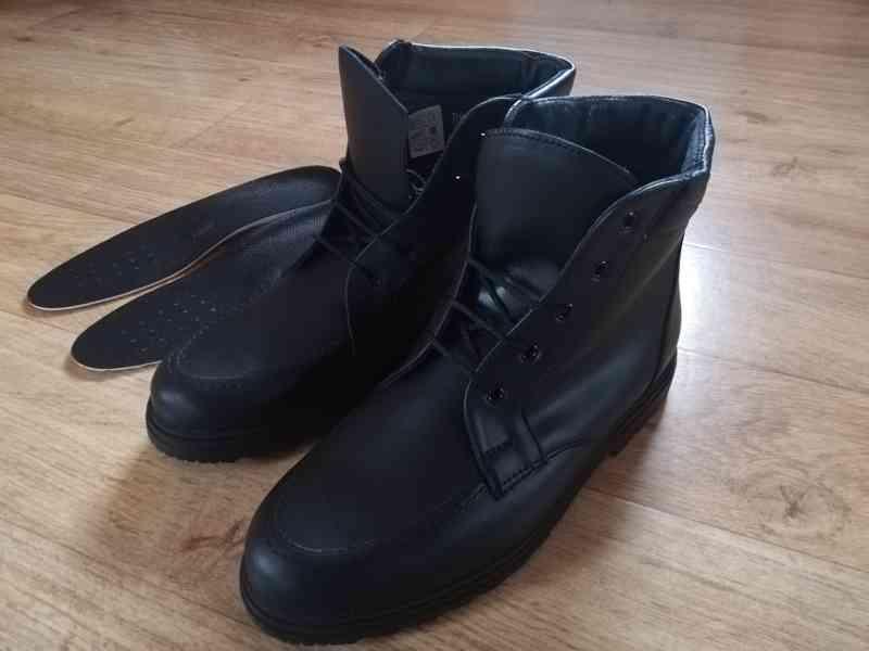 Pánské kotníčkové zimní kožené boty