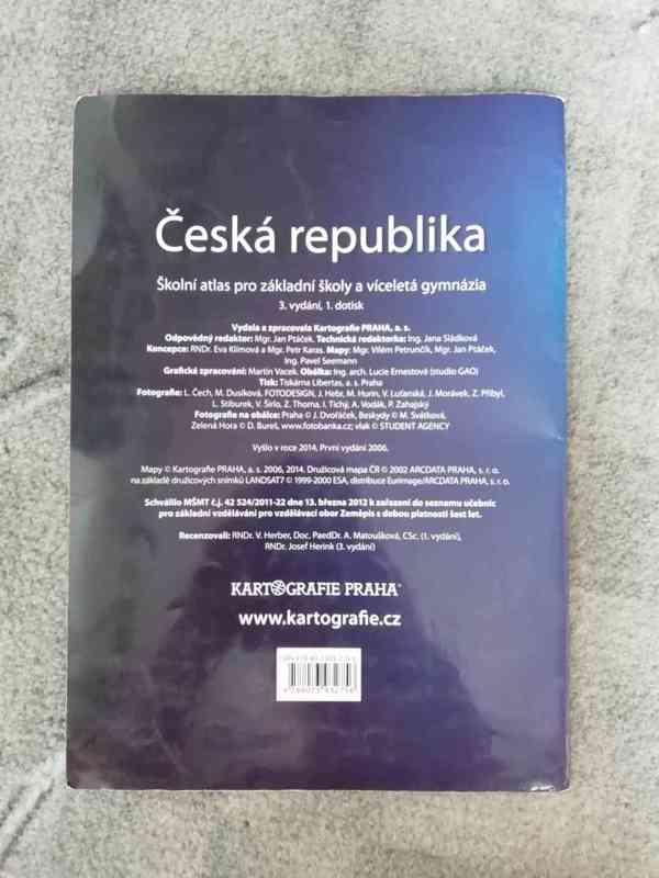 Školní atlas: Česká republika (pro ZŠ a víceletá gymnázia) - foto 2