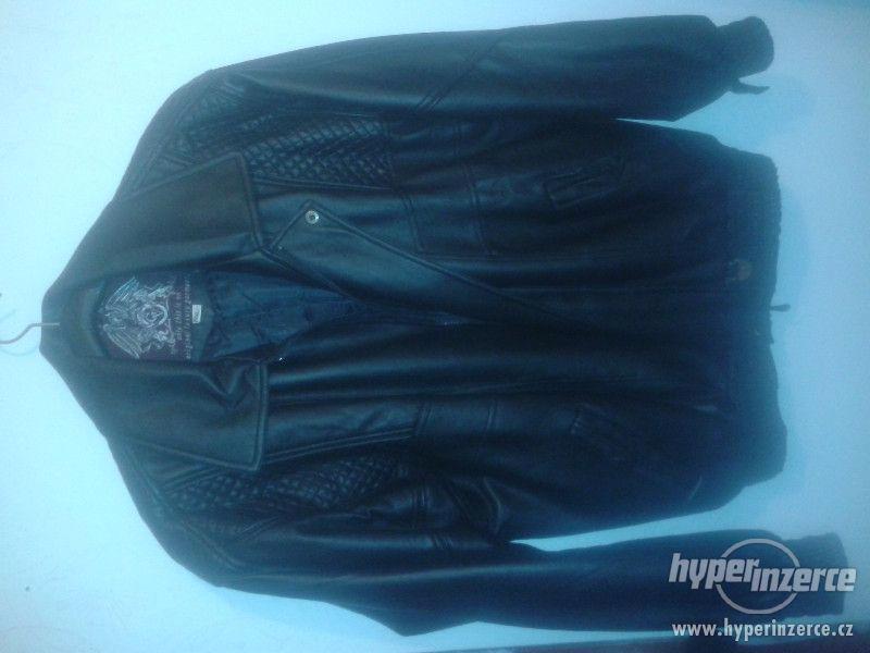 Kožená bunda pánská XL