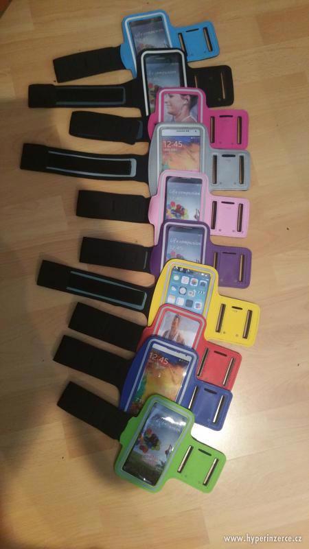 Sportovní pouzdro na ruku pro mobilní telefon, i barevne - foto 1