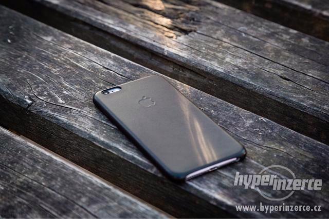 Kožený kryt Iphone 6/6S - černý, hnědý - foto 1