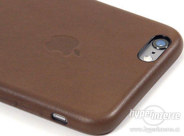 Kožený kryt Iphone 6/6S - černý, hnědý - foto 2