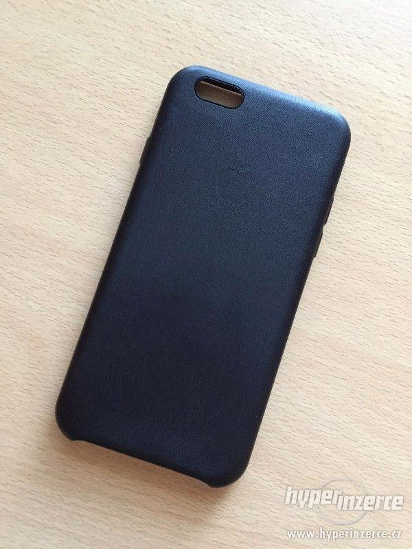Kožený kryt Iphone 6/6S - černý, hnědý - foto 3