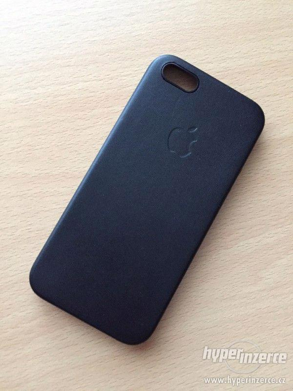 Kožený kryt Iphone 6/6S - černý, hnědý - foto 4
