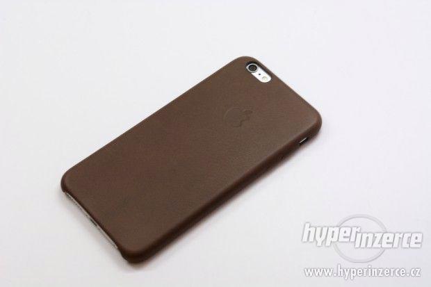 Kožený kryt Iphone 6/6S - černý, hnědý - foto 5