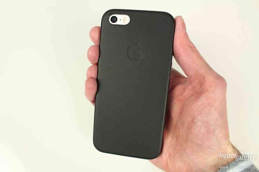 Kožený kryt Iphone 6/6S - černý, hnědý - foto 9
