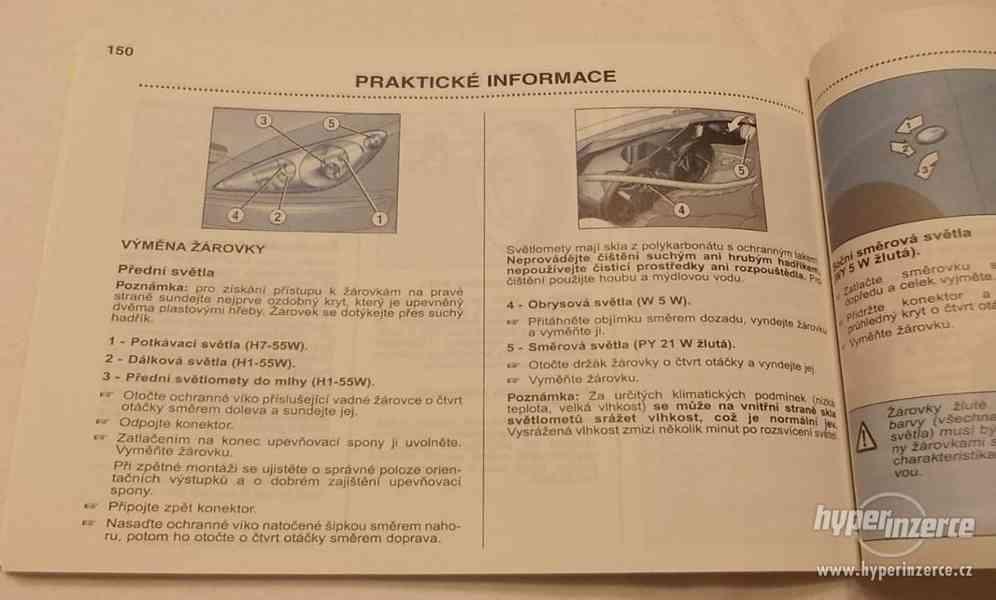 PEUGEOT 307 5 dv. + kombi příručka na obsluhu - návod - foto 9