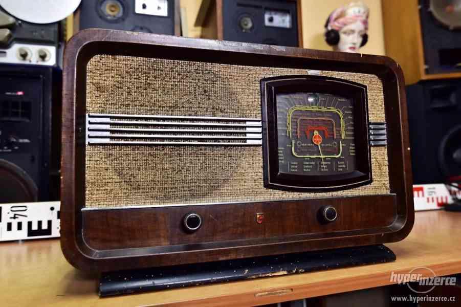 PHILIPS Aachen Super D60 - elektronkové rádio 1939