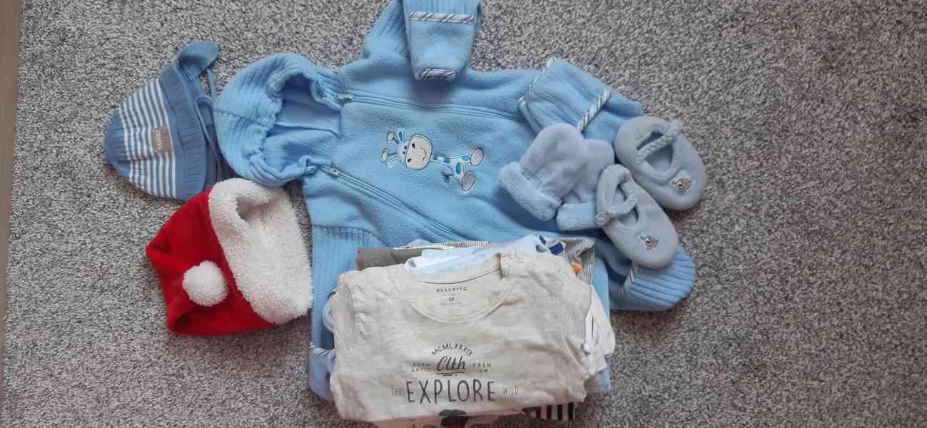 Zimní kojenecké oblečení vel. 68, 22 kusů
