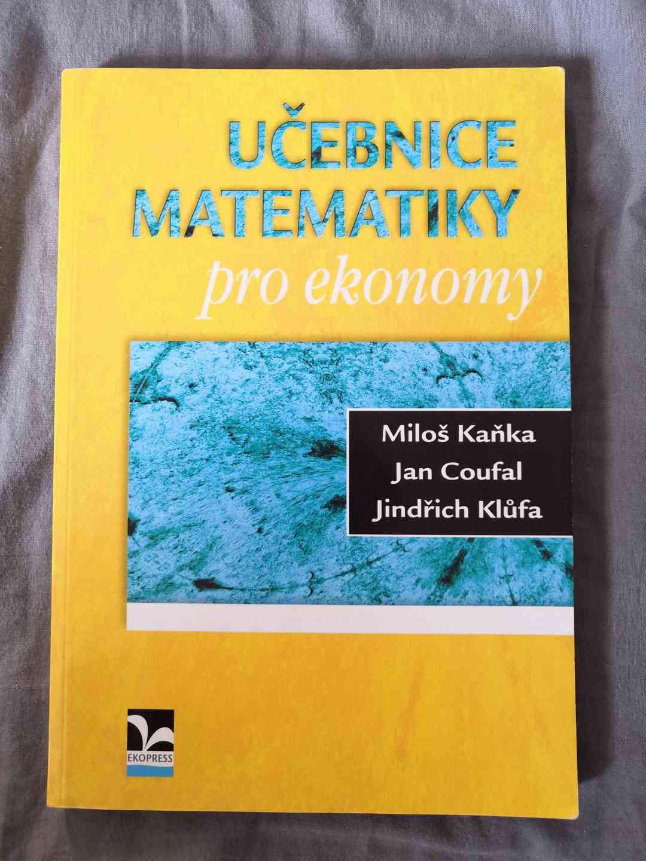 VŠE učebnice matematiky pro ekonomy - Miloš Kaňka, Coufal - foto 1