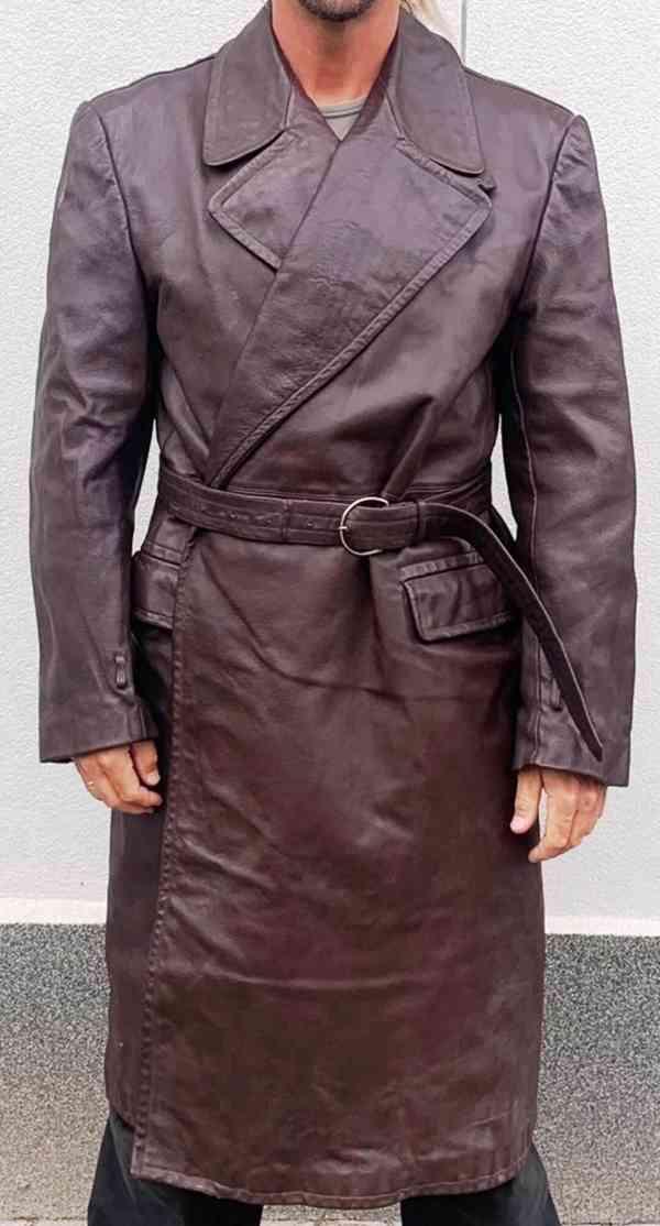 kožený kabát německý + čssr vel. L,  XXL