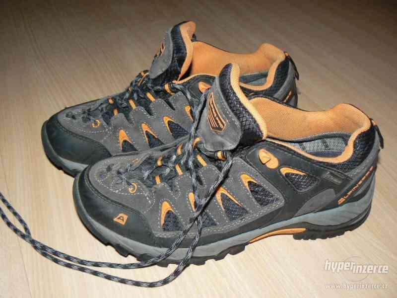 Trekové kožené botasky ALPINE PRO vel. 41 - SLEVA
