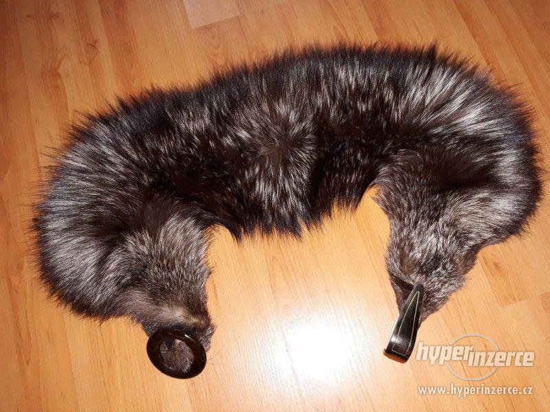 Starý límec ze stříbrné lišky - foto 1
