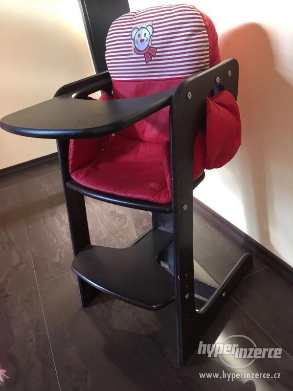 Dřevěná jídelní rostoucí židlička pro děti - foto 1
