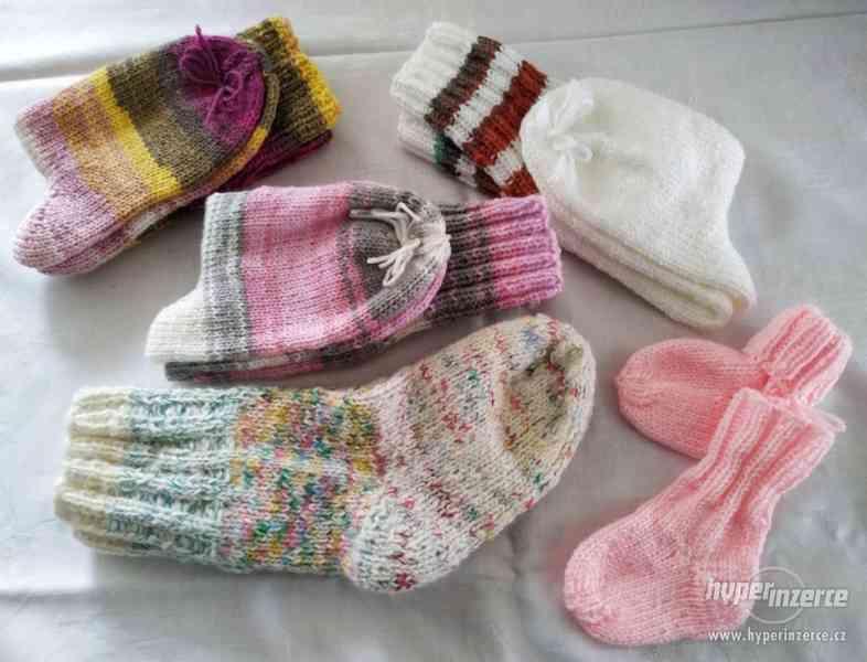 Ručně pletené teplé (příze) ponožky.