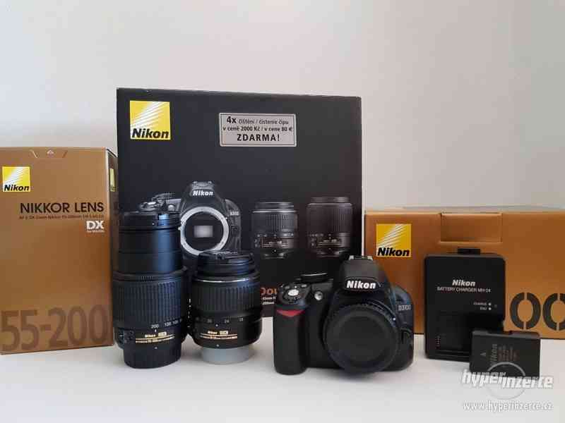 Nikon D3100 + Nikkor 18-55mm / 55-200mm + příslušenství