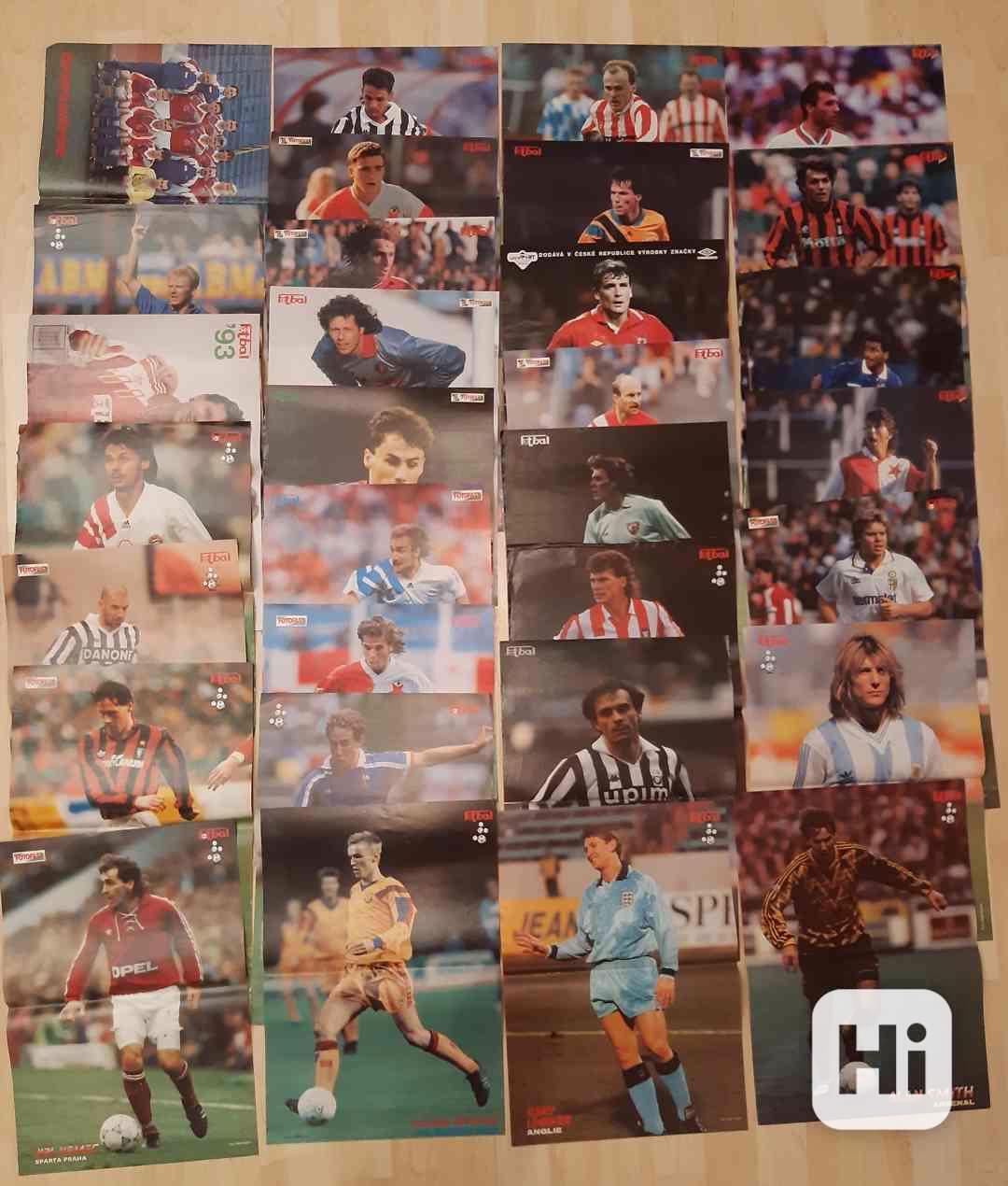 31 plakátů z časopisu Fotbal (1991- 1997) - foto 1