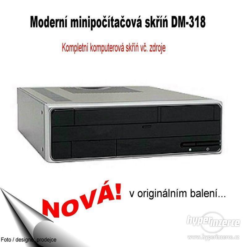 """Micro ATX Komputerová PC skříň se zdrojem …""""NOVÁ"""" - foto 1"""